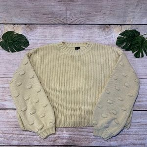 Women's Moon & Madison Cream Cropped Sweater